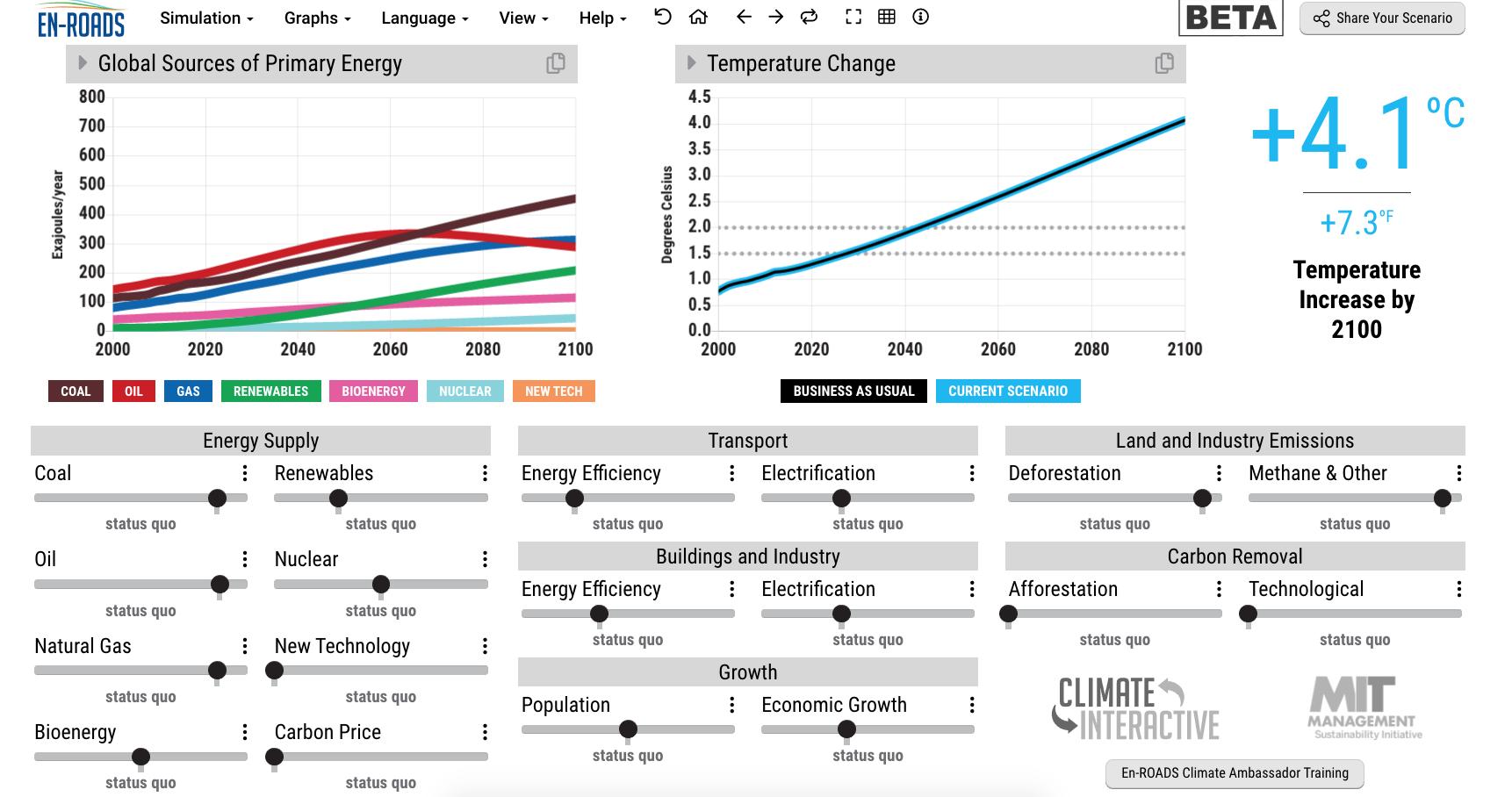 Simulatori sul cambiamento climatico